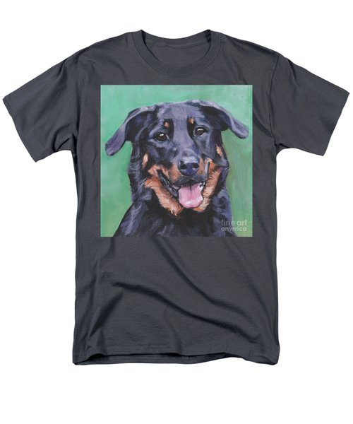 Men's T-Shirt  (Regular Fit) featuring the painting Beauceron Portrait by Lee Ann Shepard