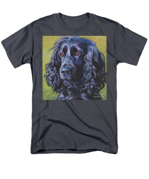 Men's T-Shirt  (Regular Fit) featuring the painting Beautiful Black English Cocker Spaniel by Lee Ann Shepard