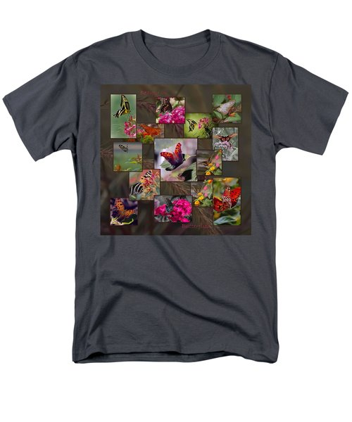Beauty In Butterflies Men's T-Shirt  (Regular Fit) by DigiArt Diaries by Vicky B Fuller