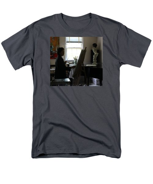 Men's T-Shirt  (Regular Fit) featuring the painting Becky Painting Chopin by Becky Kim