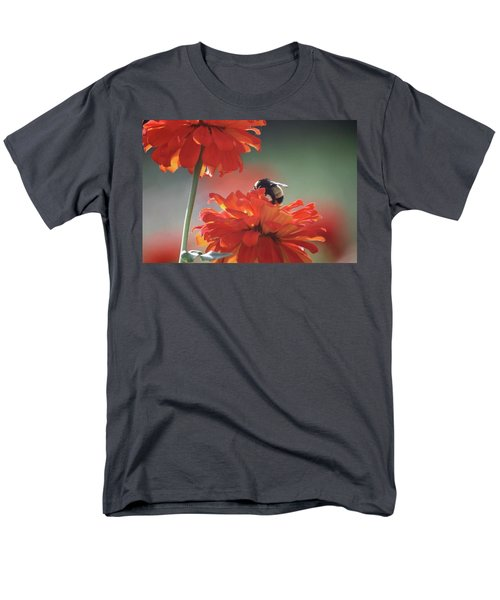 Men's T-Shirt  (Regular Fit) featuring the photograph Bee And Flower I by Donna G Smith