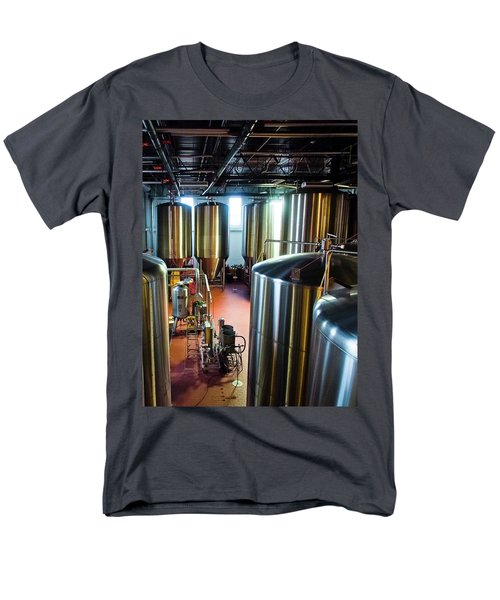 Men's T-Shirt  (Regular Fit) featuring the photograph Beer Vats by Linda Unger