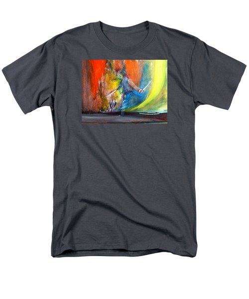 Men's T-Shirt  (Regular Fit) featuring the painting Before The Duel by Kicking Bear  Productions