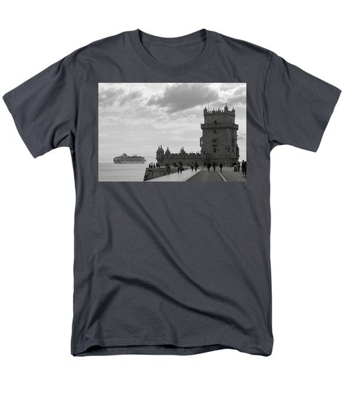 Men's T-Shirt  (Regular Fit) featuring the photograph Belem And The Boat by Lorraine Devon Wilke