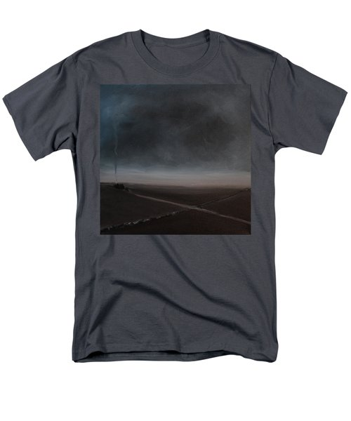 Men's T-Shirt  (Regular Fit) featuring the painting Belgian Wintertime by Tone Aanderaa