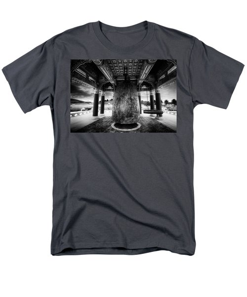 Men's T-Shirt  (Regular Fit) featuring the photograph Bell Of Friendship B W  by Joseph Hollingsworth
