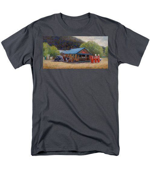 Men's T-Shirt  (Regular Fit) featuring the painting Below Taos 2 by Donelli  DiMaria