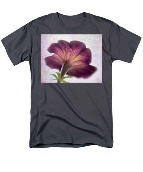 Men's T-Shirt  (Regular Fit) featuring the photograph Beneath A Dreamy Petunia by David and Carol Kelly