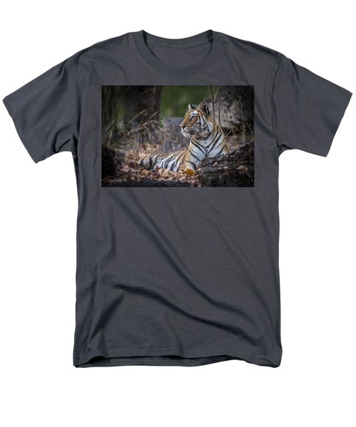 Bengal Tiger Men's T-Shirt  (Regular Fit) by Hitendra SINKAR