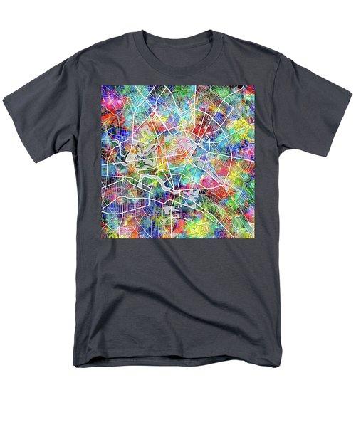Berlin Map Watercolor Men's T-Shirt  (Regular Fit) by Bekim Art