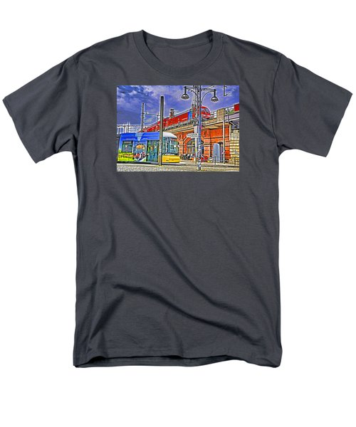 Men's T-Shirt  (Regular Fit) featuring the photograph Berlin Transit Hub by Dennis Cox WorldViews
