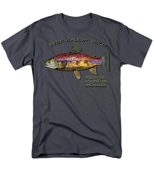Fishing - Best Caught Wild-on Dark Men's T-Shirt  (Regular Fit) by Elaine Ossipov