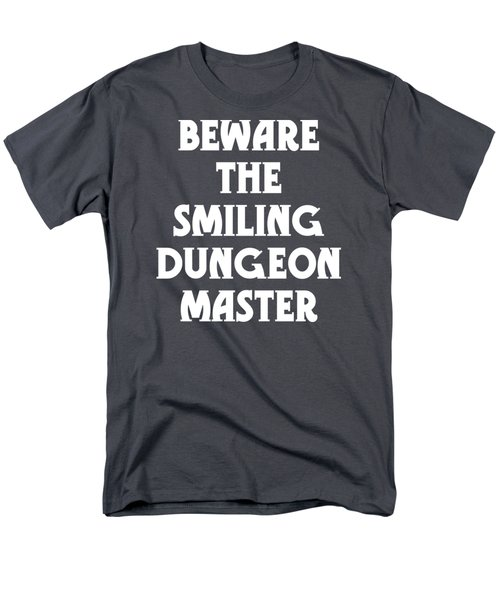 Beware The Smiling Dungeon Master Men's T-Shirt  (Regular Fit) by Geekery