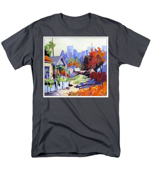 Men's T-Shirt  (Regular Fit) featuring the painting Beyond The City Limits by Rae Andrews