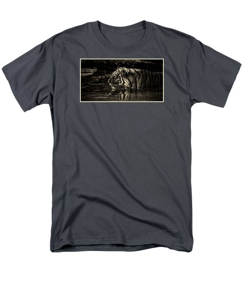 Men's T-Shirt  (Regular Fit) featuring the mixed media Big Boy Baheem by Elaine Malott