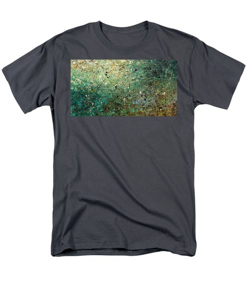 Men's T-Shirt  (Regular Fit) featuring the painting Big Universe - Abstract Art by Carmen Guedez