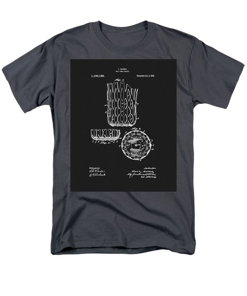 Men's T-Shirt  (Regular Fit) featuring the mixed media Billiards Table Pocket Patent by Dan Sproul