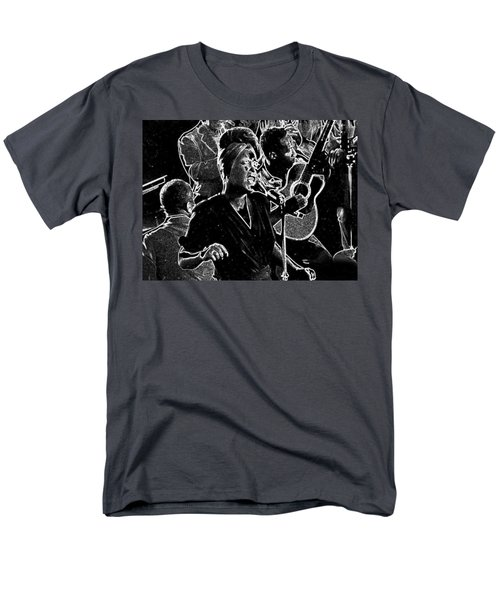 Men's T-Shirt  (Regular Fit) featuring the mixed media Billie Holiday by Charles Shoup