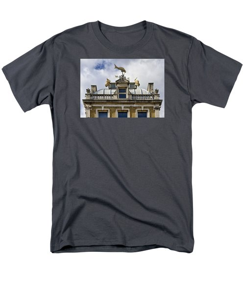 Men's T-Shirt  (Regular Fit) featuring the photograph Billingsgate Fish Market London by Shirley Mitchell
