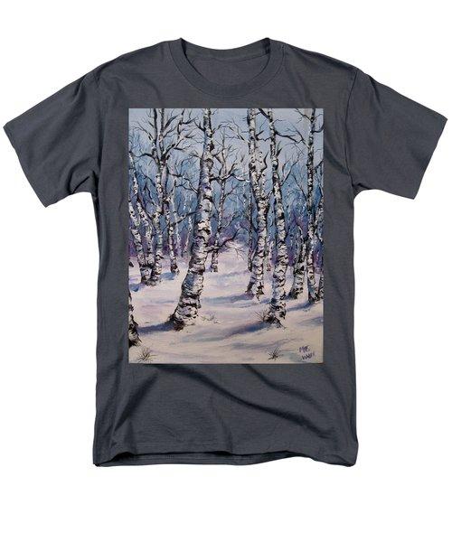 Birch Forest  Men's T-Shirt  (Regular Fit) by Megan Walsh