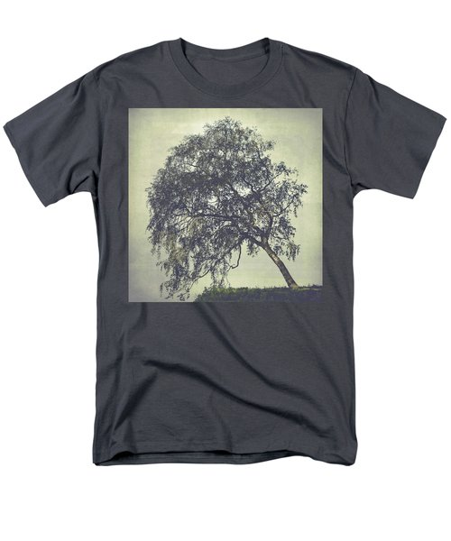 Men's T-Shirt  (Regular Fit) featuring the photograph Birch In The Mist by Ari Salmela