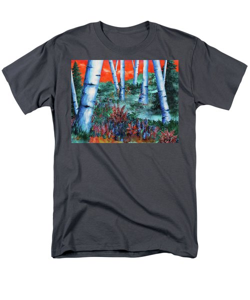 Birch Trees At Sunset Men's T-Shirt  (Regular Fit) by Curtiss Shaffer