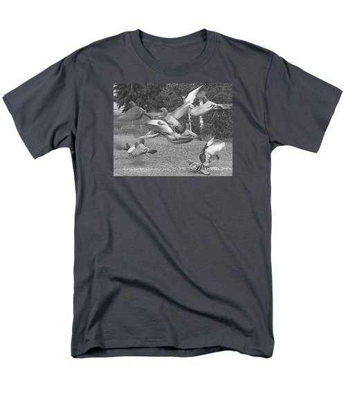Men's T-Shirt  (Regular Fit) featuring the photograph Bird Flurry by Suzy Piatt