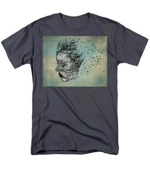 Bird Lady Men's T-Shirt  (Regular Fit) by Diana Boyd
