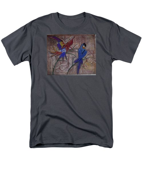 Birds On A Mayan Wall Men's T-Shirt  (Regular Fit)