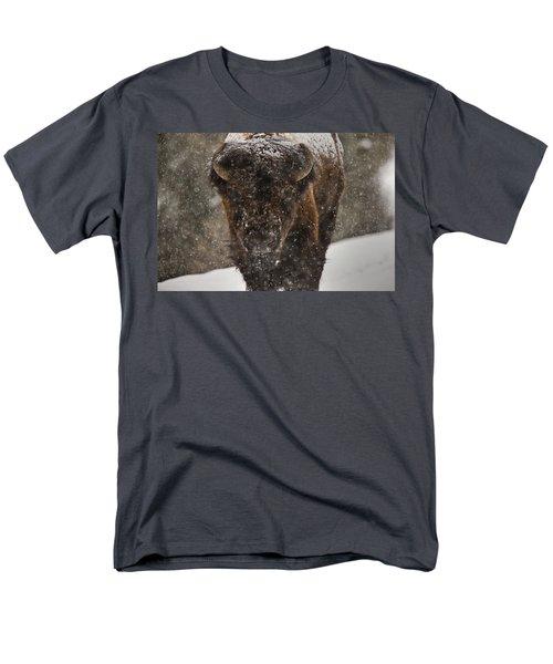 Bison Buffalo Wyoming Yellowstone T-Shirt by Mark Duffy
