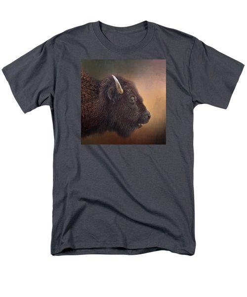 Bison Men's T-Shirt  (Regular Fit) by David and Carol Kelly
