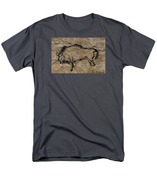 Bison From Niaux Cave Men's T-Shirt  (Regular Fit) by Dragica Micki Fortuna