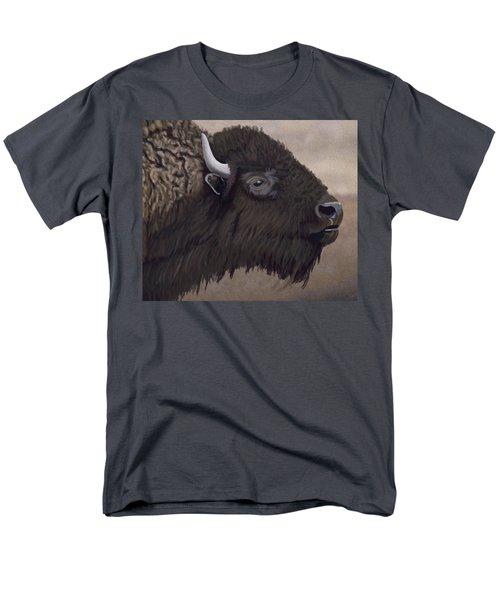 Bison Men's T-Shirt  (Regular Fit) by Jacqueline Barden
