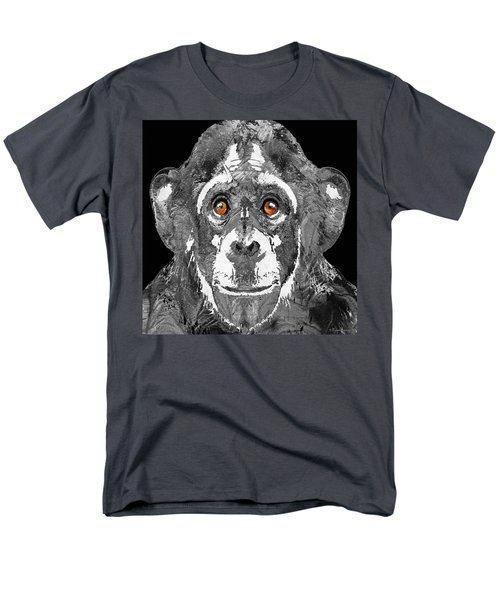 Black And White Art - Monkey Business 2 - By Sharon Cummings Men's T-Shirt  (Regular Fit) by Sharon Cummings