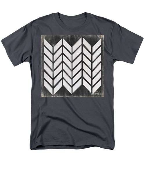Men's T-Shirt  (Regular Fit) featuring the painting Black And White Quilt by Debbie DeWitt