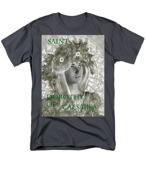 Black And White Saint Dorothy Men's T-Shirt  (Regular Fit) by Suzanne Silvir