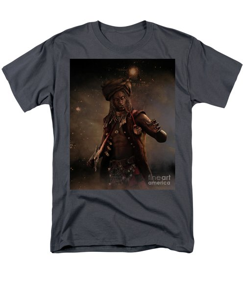 Men's T-Shirt  (Regular Fit) featuring the digital art Black Caesar Pirate by Shanina Conway