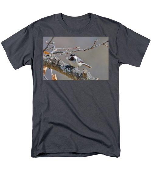 Men's T-Shirt  (Regular Fit) featuring the photograph Black Capped Chickadee 1109 by Michael Peychich