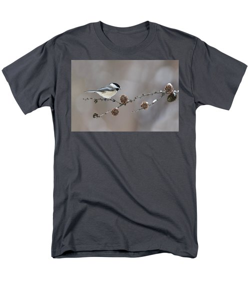 Men's T-Shirt  (Regular Fit) featuring the photograph Black-capped Chickadee by Mircea Costina Photography