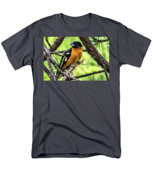 Black-headed Grosbeak Men's T-Shirt  (Regular Fit) by Marilyn Burton