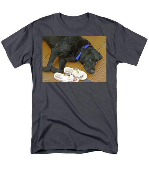 Black Lab Resting Men's T-Shirt  (Regular Fit) by Brian Wallace