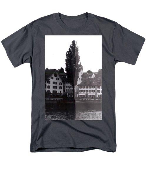 Black Lucerne Men's T-Shirt  (Regular Fit) by Christian Eberli
