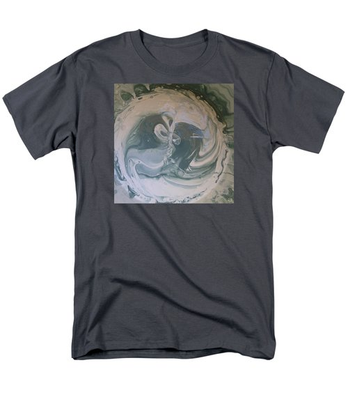 Black Panthers Kissing In Ice Cave Men's T-Shirt  (Regular Fit) by Gyula Julian Lovas