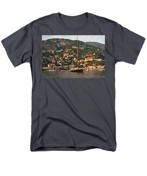 Black Sailboat At Villefranche II Men's T-Shirt  (Regular Fit) by Steven Sparks
