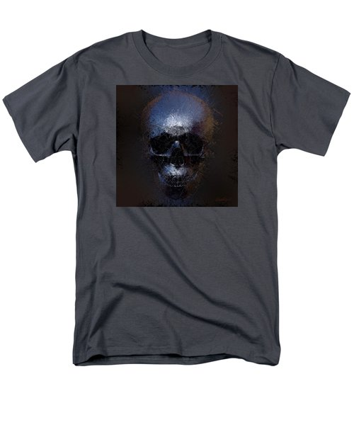 Black Skull Men's T-Shirt  (Regular Fit) by Vitaliy Gladkiy