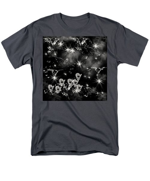 Men's T-Shirt  (Regular Fit) featuring the drawing Black Square By Jenny Rainbow by Jenny Rainbow