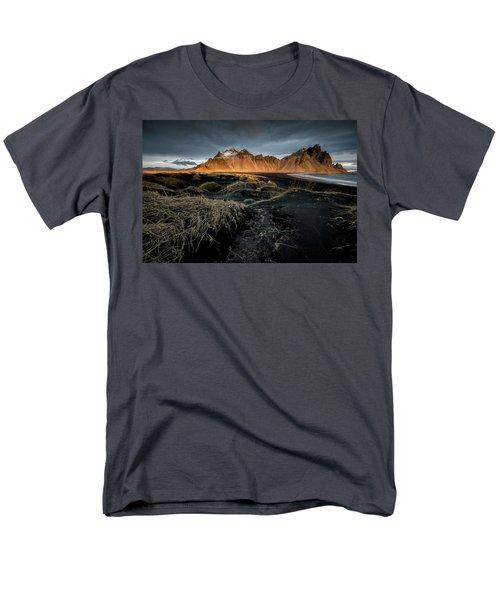 Blackbeach And Vestrahorn Men's T-Shirt  (Regular Fit) by Allen Biedrzycki
