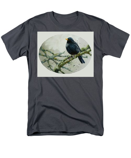 Blackbird Painting Men's T-Shirt  (Regular Fit) by Alison Fennell