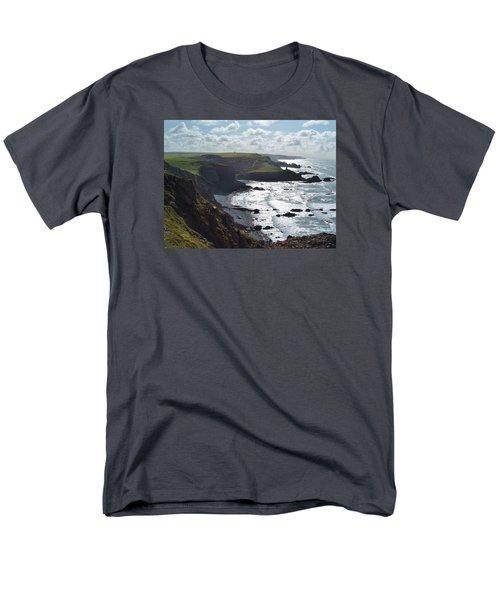Blegberry Cliffs From Damehole Point Men's T-Shirt  (Regular Fit) by Richard Brookes