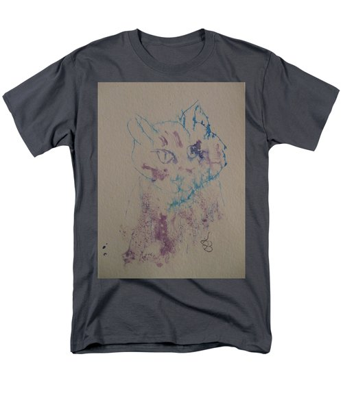 Blue And Purple Cat Men's T-Shirt  (Regular Fit) by AJ Brown